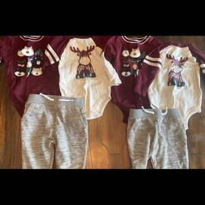 6 Piece Garanimals 12 Month Twin Boy Set